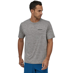 Patagonia Cap Cool Daily Graphic Camiseta Hombre, p-6 logo/feather grey